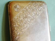 J. C. VICKERY EDWARDIAN 9K SOLID GOLD CIGARETTE CASE; Very Well Marked, 375 Gold