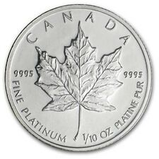 1/10 oz Random Year Platinum (Canada) Canadian Maple Leaf $5 BU