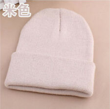 Men's Women Beanie Knit Ski Cap Hip-Hop Blank Color Winter Warm Unisex Hat 13#