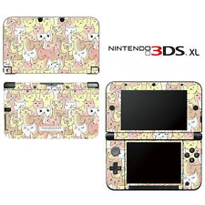 Kitty Cat Pattern Decorative Decal Cover Skin for Nintendo 3DS XL