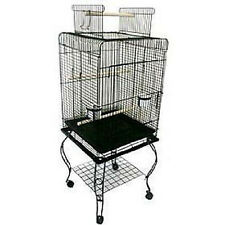 Large 20-Inches Open Play Top Parrot Bird Cage With Stand Wheel 901A -504
