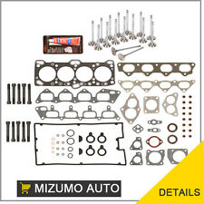 Mitsubishi Eagle Dodge 4G63 Head Gasket Set Bolts Intake Exhaust Valves Silicone