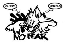 Chicken Fear Decal  Window sticker Car RV Truck ATV Hunting Outdoor Vinyl Decal