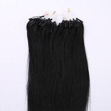 """Micro Loop Hair Extensions Ring Beads Tipped 100% Real Human Hair Any Colors 22"""""""