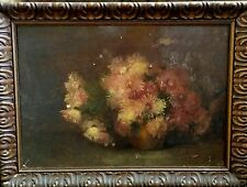 18th Century Vintage oil painting of flowers