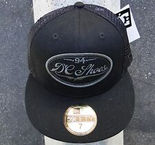 Dc Shoes New Era 59 FIFTY 94 Logo Fitted Black Mens Hat Size 7.0  (55.8) cm