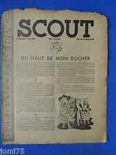 Rare SCOUT N° 139 Octobre 1939 REVUE DES SCOUTS DE FRANCE SCOUTISME plein air