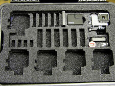 Black Professional Pelican 1500 case fit 6 Gopro Hero2 Hero3 & accessories Bonus