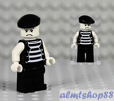"LEGO - Mime Minifigure ""Sad Face"" Clown Circus Actor Minifig Series 2 Custom"