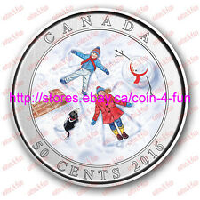 2016 - Canada - Holiday Lenticular - Snow Angel - 50-cent 3D Coloured Coin