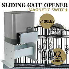 Sliding Electric Gate Opener 1400KG Automatic Motor Remote Kit Heavy Duty Chain