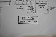 YAESU FT-101ZD (CIRCUIT DIAGRAM ONLY)............RADIO_TRADER_IRELAND.