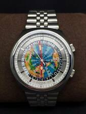 Rare 1970s Vintage Edox Geoscope Automatic World Timer Swiss Made Watch