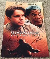 TIM ROBBINS SIGNED AUTOGRAPH THE SHAWSHANK REDEMPTION 12x18 PHOTO wPROOF & QUOTE