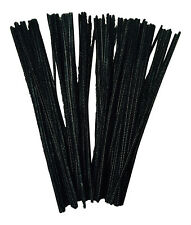 BLACK PIPE CLEANERS Craft STELI x 100 30cm x 4mm CONSEGNA GRATIS nel Regno Unito