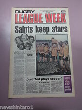 #T109. RUGBY LEAGUE WEEK NEWSPAPER  17/7 1980, ARTHUR BEETSON PINUP