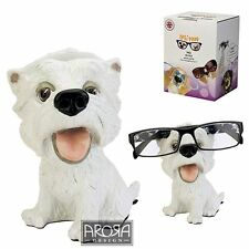 Optipaws Westie Dog Glasses Holder Figurine NEW in Gift box - 24329