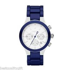 NEW DKNY METALLIC BLUE ALUMINUM STRAP CHRONOGRAPH WATCH-NY8265