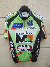 Maillot cycliste MARLUX WINCOR NIXDORF CHARLEROI jersey shirt trikot 2003 5 L