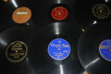 "78 RPM 10"" Shellac Pre-War Random Lot of 8 Records 10's 20's 30's"