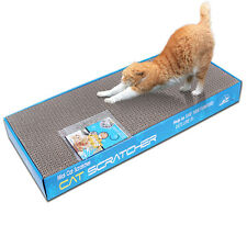 2x Dual-sided Cat Scratching Corrugated Board Scratcher Bed Pad Toy with Catnip