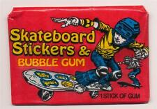 Skateboard Stickers and Bubble Gum Trading Pack