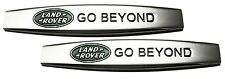x2 New Chrome & Green Land Rover Emblem Replaces OEM Fender Grille Trunk Badge