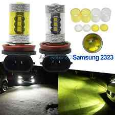 H11 H8 LED Fog Light 60W Samsung 2323 6000K White 4300K Yellow Driving DRL Bulb