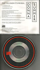 DONNA SUMMER This time I know REMIX & INSTRUMENTAL PROMO CD Single it's for Real