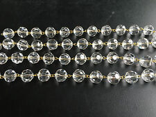 3' CLEAR Crystal GLASS 14MM CHANDELIER LAMP PART CHAIN WEDDING GARLAND STRAND