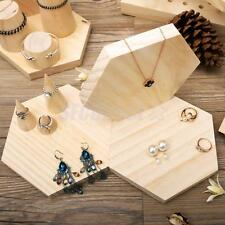 Earrings Necklace Bracelet Plain Wooden Jewellery Display Stand Tray Holder