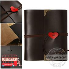 Leather Photo Album Large Scrapbook Pictures Albums Original Gift Black Paper