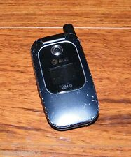 LG CU400 (AT&T) CDMA 3G Black Cellular Camera Flip Phone w/ Battery Cover