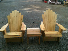 Cape Cod Adirondack Outdoor Timber Chair (x2)  + Table