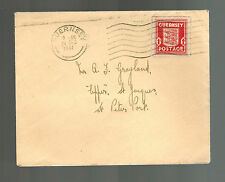 1941  Guernsey Channel Islands England Occupation Cover to ST Peter Port Dec 24