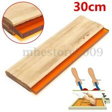 "12"" Silk Screen Printing Squeegee Square Blade Ink Scraper Rubber Blade 300mm"
