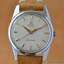 OMEGA SEAMASTER HONEYCOMB 14700-2 Cal 552 AUTOMATIC STAINLESS STEEL GOLD MARKERS