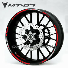 MT-07 motorcycle bike wheel decals rim stickers set stripes yamaha yzf-r1 MT 07