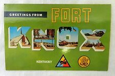 Vintage Uncirculated Greetings from Fort Knox Kentucky Souvenir Postcard