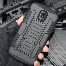 Heavy Duty Armor Hybrid Rugged Hard Stand Case Shockproof Cover Samsung S5