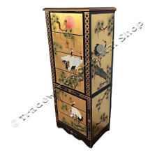 GOLD LACQUER JEWELLERY ARMOIRE