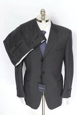 CANALI Italy Gray Super 120's Wool 3Btn Flat Front Suit 54 44 44S fits 44R NWT!