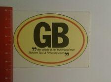 Aufkleber/Sticker: GB veel plezier in het buitenland Met elseviers (181016158)