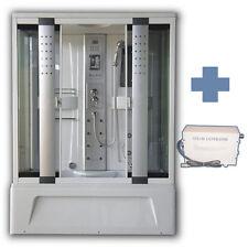 BOX CABINA DOCCIA IDROMASSAGGIO MULTIFUNZIONE 150 X 85 CON BAGNO TURCO