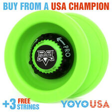 [NEW YEAR SALE] YoYoFactory Velocity Yo-Yo - Green + FREE Teaching DVD + STRINGS