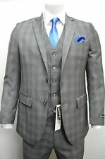Men's 3pc  Gray Slim Fit Dress Suit Size 36S NEW Suit