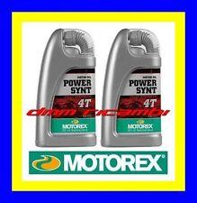 2 Litri Olio Motore 4 tempi MOTOREX Power Synt 4T 10W/50 100% Sintetico