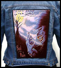 AMULANCE - Feel the Pain   --- Huge Jacket Back Patch Backpatch