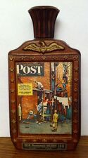 Jim Beam Saturday Evening Post DECANTER A New Romance 1976 Brown Red Eagle Stars