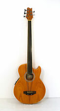 Fretless 5 String Electric Cutaway Acoustic Bass Light-Brown ( finish flaw )